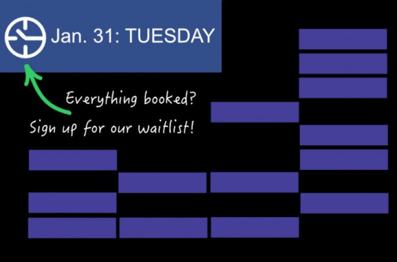 Everything booked? Sign up for our waitlist!